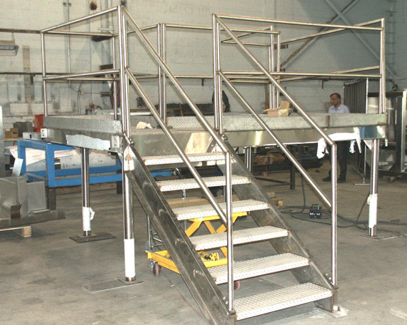 stainless steel catwalks-or-walkovers